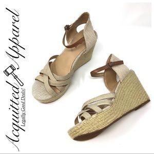 Lucky Brand | Espadrille Wedge Heel Sandals Tan